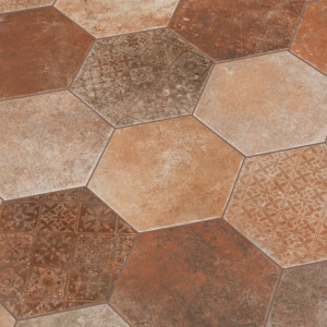 Hexagon-Pompeia-Decor-Marron