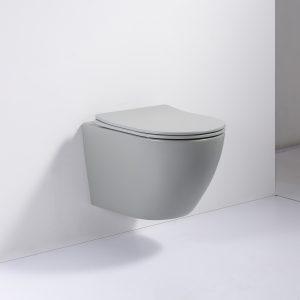 hangtoilet mat licht grijs