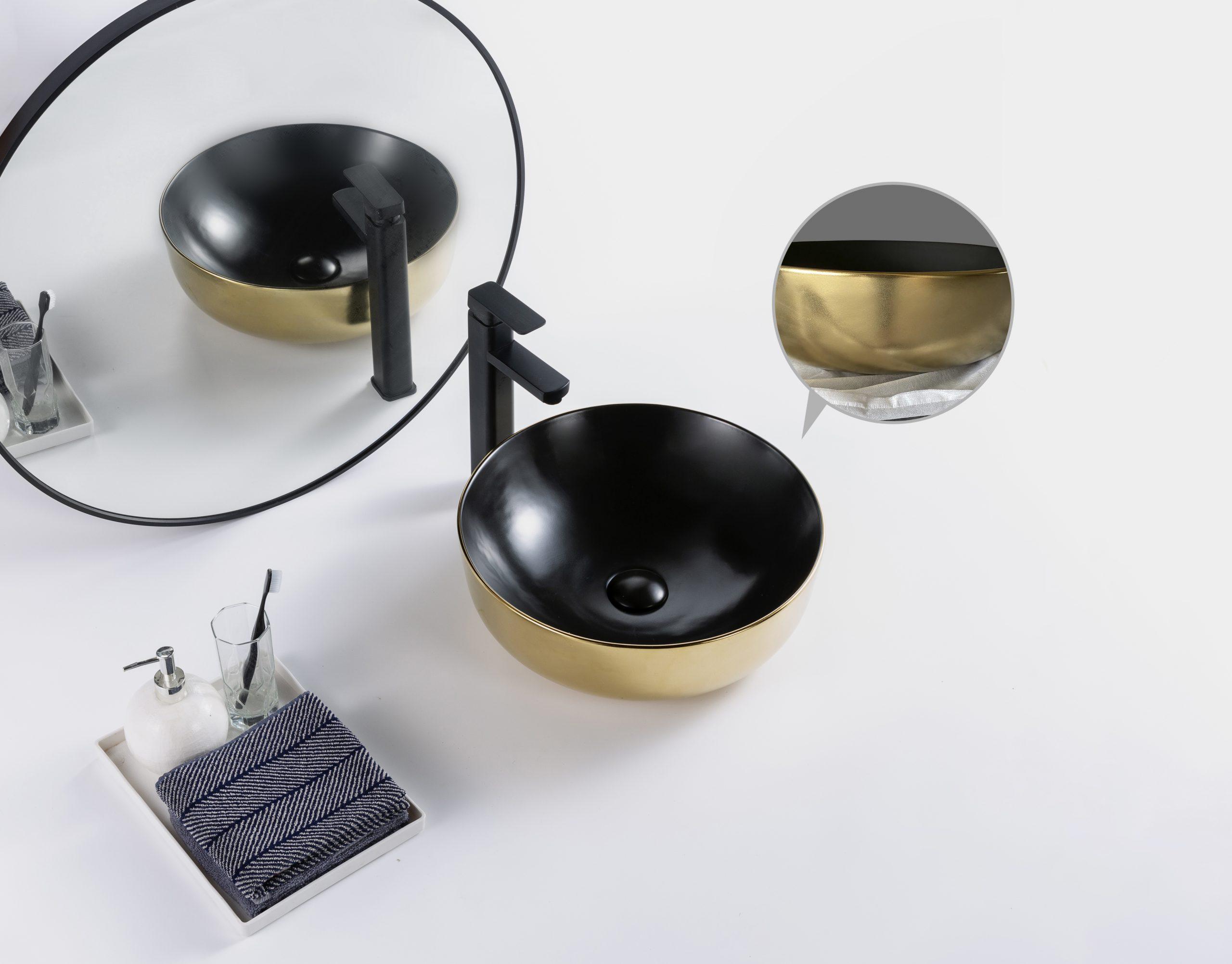 waskom zwart goud