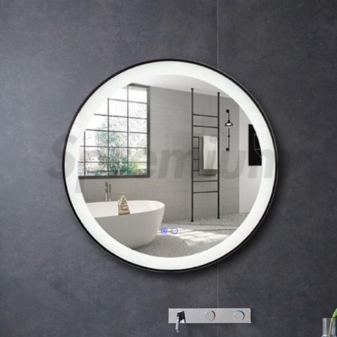 Spiegel met LED verlichting en verwarming rond