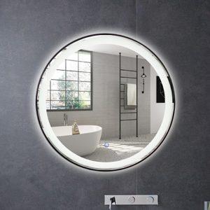 Ronde spiegel met LED verlichting en verwarming