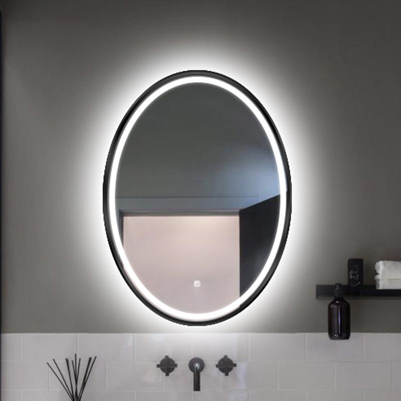 Spiegel ovaal met LED verlichting en verwarming